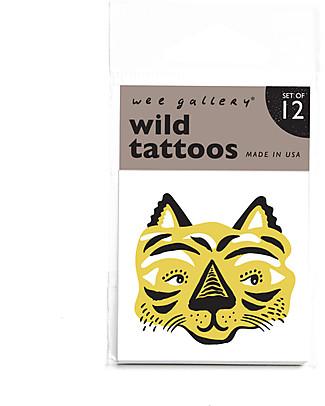 Wee Gallery Tatuaggi Temporanei Wild (12 Pezzi) - atossici e sicuri null