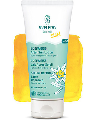 Weleda After Sun Lotion Stella Alpina, 200 ml - With Extracts of Aloe Vera Sun Screen
