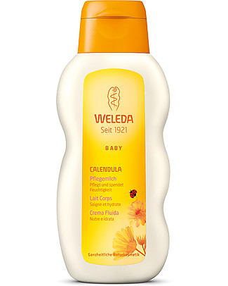 Weleda Baby Crema Fluida alla Calendula Bio 200 ml - Nutre e idrata la pelle delicata Creme e Olii