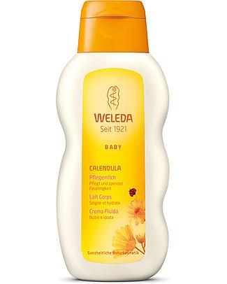 Weleda Baby Crema Fluida alla Calendula Bio - Nutre e idrata la pelle delicata Creme e Olii