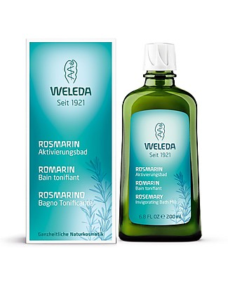 Weleda Bagno Tonificante al Rosmarino, 200 ml – Ideale al mattino, rivitalizza e riattiva Creme e Olii