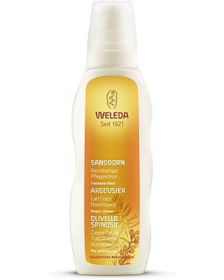 Weleda Crema Fluida Nutriente all'Olivello Spinoso, 200 ml – 100% naturale Bagno Doccia Shampoo