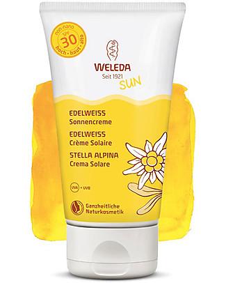 Weleda Crema Solare SPF 30, Stella Alpina - 150ml, Alta Protezione per Tutto il Corpo! Solari
