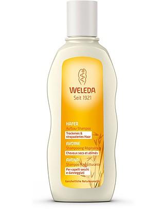 Weleda Shampoo Ristrutturante all'Avena, 190 ml – Combatte le doppie punte Bagno Doccia Shampoo
