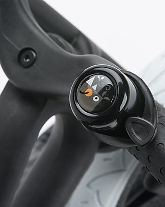 Wishbone Design Studio Universal Bike Bell, Endangered Species WWF Edition, Black Rhino Bycicles