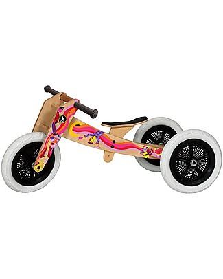 Wishbone Design Studio Wishbone Bike 3 in 1, Edizione Limitata Music - Bici Pedagogica che Cresce col tuo Bimbo, Da 1 a 5 anni! Biciclette Senza Pedali