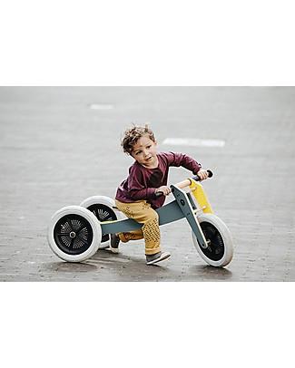 Wishbone Design Studio Wishbone Bike 3 in 1, Grigio e Giallo - Bici Pedagogica che Cresce col tuo Bimbo, Da 1 a 5 anni! Biciclette Senza Pedali