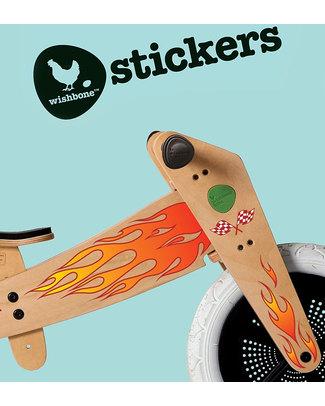 Wishbone Design Studio Wishbone Classic Sticker Fiamme - Personalizza la tua Wishbone! Biciclette Senza Pedali