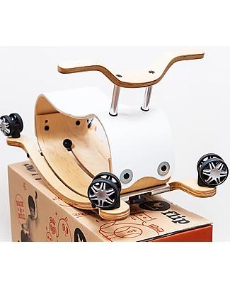 Wishbone Design Studio Wishbone Flip Cavalcabile Bianco in Legno 3 in 1: Cresce col Bimbo e Super-Sostenibile! Cavalcabili