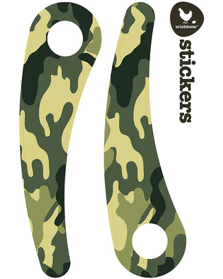 Wishbone Design Studio Wishbone Stickers - Recycled Edition - Camouflage - Adesivi per la personalizzazione Biciclette