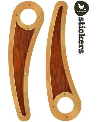 Wishbone Design Studio Wishbone Stickers - Recycled Edition - Legno - Adesivi per la personalizzazione Biciclette