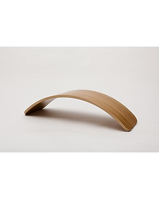Wobbel Wobbel Original Tavola d'Equilibrio in Bamboo, Smalto Trasparente - Divertimento ed esercizio per grandi e piccini Cavalcabili