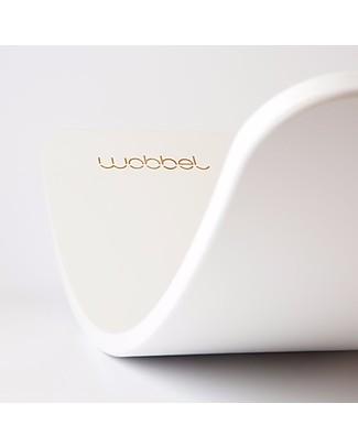 Wobbel Wobbel Original Tavola d'Equilibrio in Legno Limited Edition, Bianco Cavalcabili