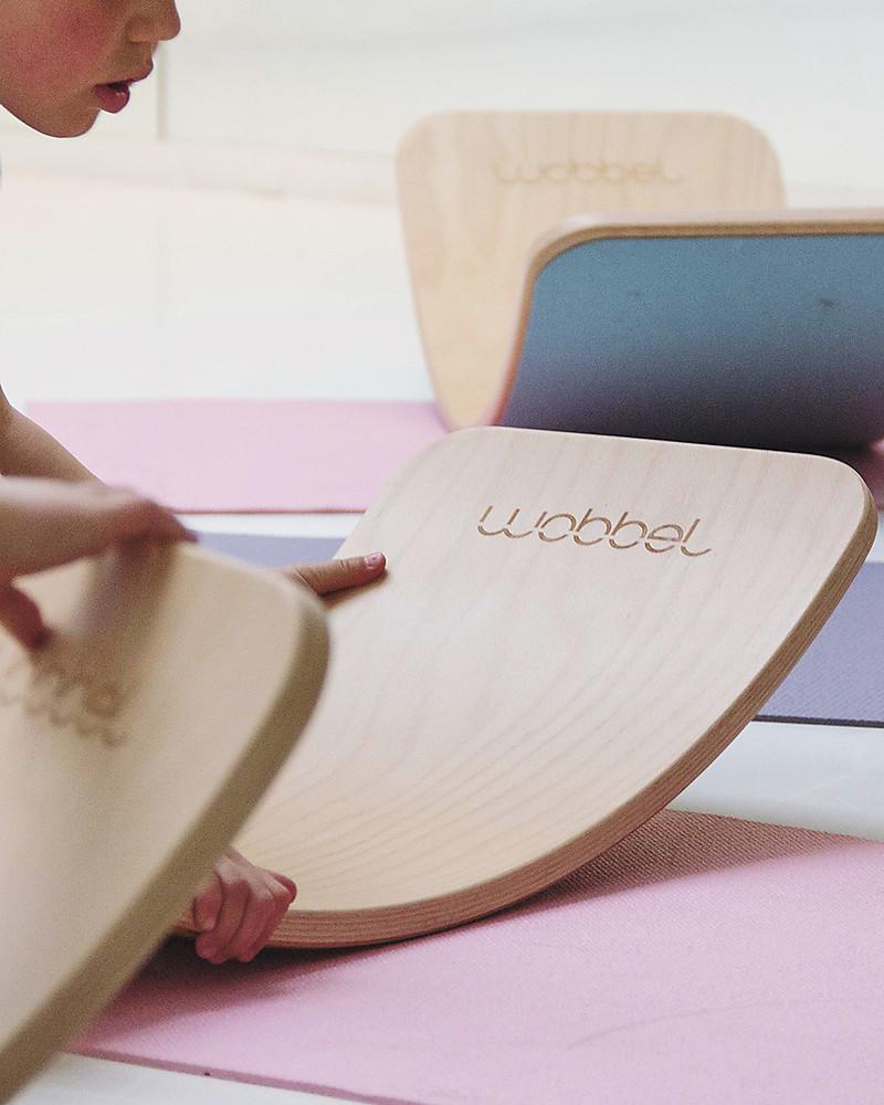 Wobbel Wobbel Original Tavola D Equilibrio In Legno Smalto Trasparente Divertimento Ed Esercizio Per Grandi E Piccini Unisex Bambini