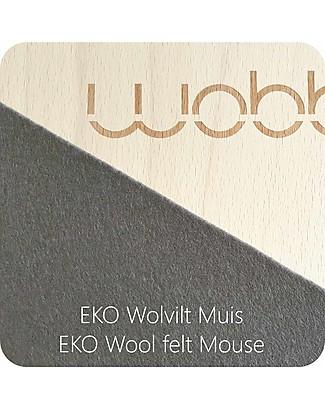 Wobbel Wobbel XL (da 7 anni) Tavola d'Equilibrio in Legno, Smalto Trasparente e Feltro Antracite - Divertimento ed esercizio per grandi e piccini Construzioni In Legno