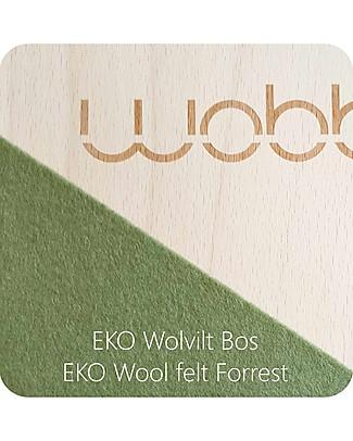 Wobbel Wobbel XL (da 7 anni) Tavola d'Equilibrio in Legno, Smalto Trasparente e Feltro Foresta - Divertimento ed esercizio per grandi e piccini Cavalcabili