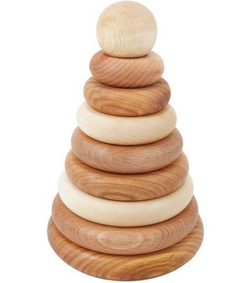 Wooden Story Anelli Impilabili Legno Naturale (pigmenti naturali e cera d'api) Incastri In Legno