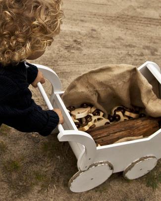 Wooden Story Carrozzina per Bambole - Legno Naturale Macchine e Trenini  in Legno