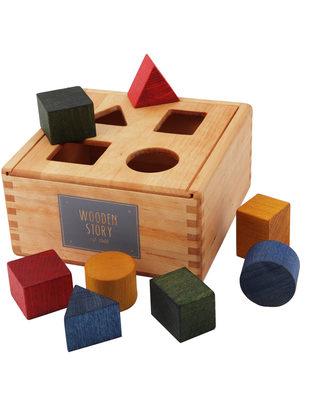 Wooden Story Incastri Geometrici - Legno Naturale (sviluppo psicomotorio e associazione delle forme)  Incastri In Legno