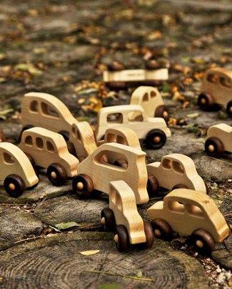 Wooden Story Macchina '30 - Legno Naturale non impregnato - (sicuro ed ecologico) Macchine e Trenini  in Legno
