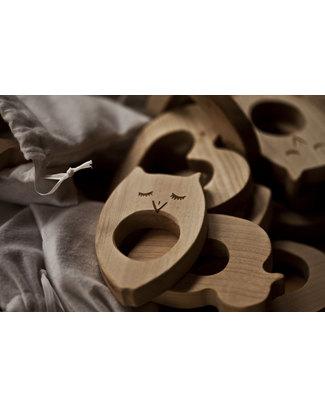 Wooden Story Massaggiagengive Gufo - Legno Naturale non impregnato - (sicuro ed ecologico) Massaggiagengive