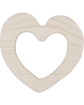 Wooden Story Massaggiagengive Love - Legno Naturale non impregnato - (sicuro ed ecologico) Massaggiagengive