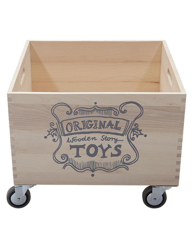 Wooden story scatola per giochi legno naturale senza for Contenitori per giocattoli ikea