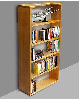 Woodly Kit Libreria per Lettino Montessori BIG - Abete Mordenzato Miele - Made in Italy Letti Montessoriani