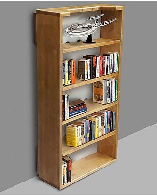 Woodly Kit Libreria per Lettino Montessori SMALL - Abete Naturale - Made in Italy Letti Montessoriani