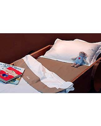 Woodly Lenzuola di sotto con Angoli SMALL, Panna - Per materassi 120x60cm Lenzuola