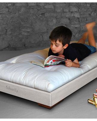 Woodly Lettino Montessoriano Puro BIG 160x70 cm - Bianco Shabby - Made in Italy Letti Montessoriani