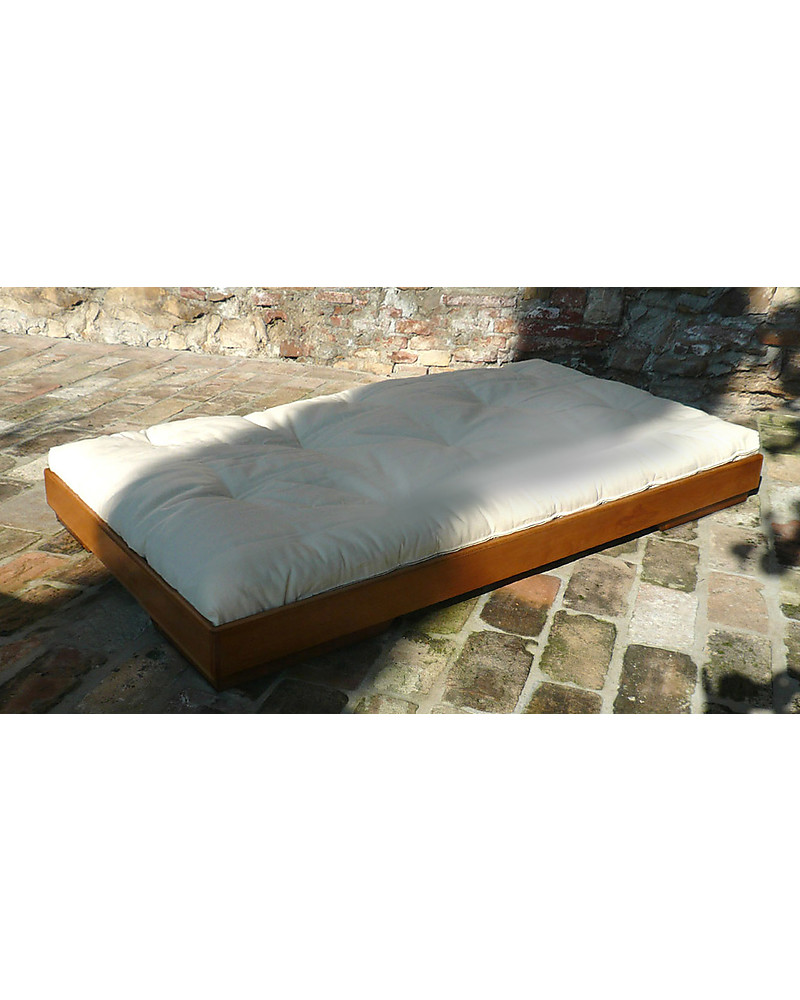 Woodly Letto Basso Puro Xmaxi , Miele , 120 x 200 cm , Made in Italy