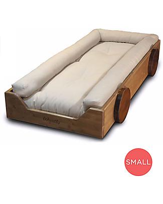 Woodly Riduttore Imbottito per Lettino Montessori SMALL - 100% Puro Cotone Letti Montessoriani