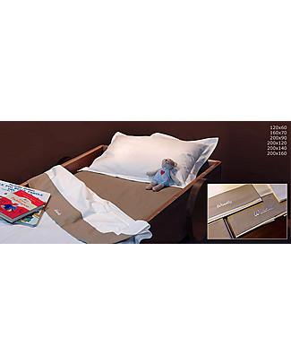 Woodly Set completo SMALL Copripiumino, Lenzuolo con Angoli e Federa, Panna o Caffè - Per Materassi 120x60cm Lenzuola