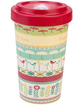 Woodway Tazza da viaggio in Bamboo, Carpe Diem Rosso - 500ml Tazze e Bicchieri