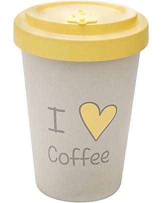 Woodway Tazza da viaggio in Bamboo, Love Coffee - 400ml Tazze e Bicchieri