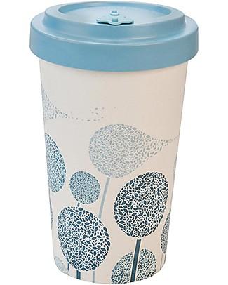 Woodway Tazza da viaggio in Bamboo, Tarassaco Blu - 500ml Tazze e Bicchieri
