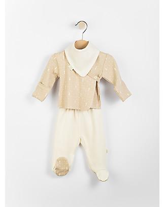 Wooly Organic Baby Gift Set: Maglia, Pantalone e Bavaglio – In confezione regalo! Maglie Manica Lunga