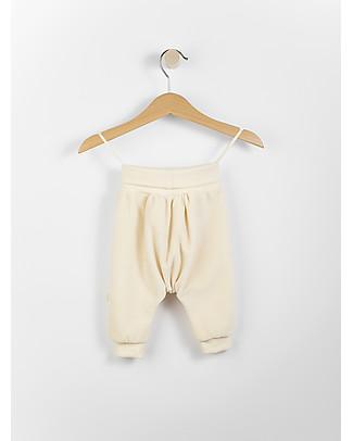 Wooly Organic Pantaloni Baby in Ciniglia, Ecru - 100% cotone bio Pantaloni Lunghi
