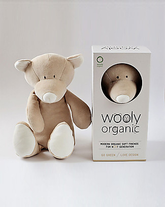 Wooly Organic Peluche Orsetto, Large 29 cm – 100% cotone bio Peluche