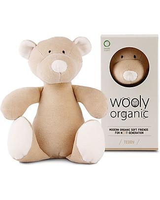 Wooly Organic Peluche Orsetto, Small 17 cm – 100% cotone bio Peluche