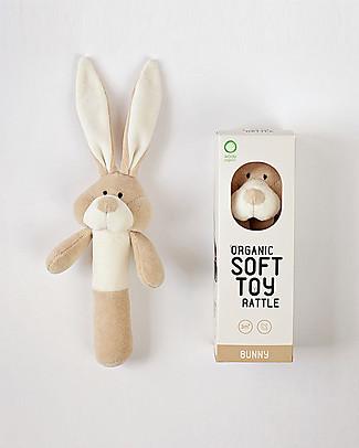 Wooly Organic Peluche Sonaglio, Coniglietto – 100% cotone bio Sonagli