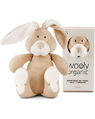 Wooly Organic Soft Toy, Bunny, Small 17.5 cm – 100% organic cotton Soft Toys