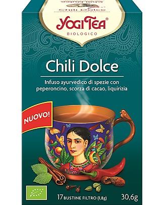 Yogi Tea Chili Dolce, Infuso Ayurvedico con Peperoncino, Scorza di Cacao, Liquirizia - 17 bustine Tisane