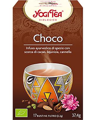 Yogi Tea Choco, Infuso Ayurvedico con Cacao, Liquirizia e Cannella, 17 bustine - Calmante Tisane