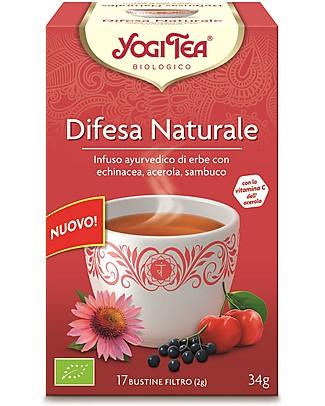 Yogi Tea Difesa Naturale, Infuso Ayurvedico con Echinacea, Acerola, Sambuco - 17 bustine Tisane