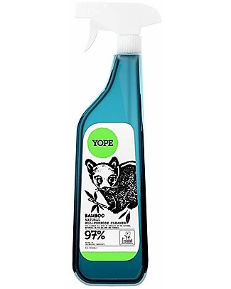 Yope Detergente Spray Multifunzione per Ceramica, Plastica o Acciaio, 750 ml - bambù Detergenza Casa