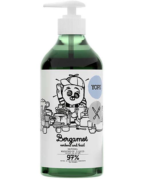 Yope Sapone Liquido per Piatti, 750 ml - Bergamotto, Verbena e basilico Detergenza Casa