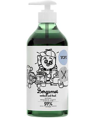 Yope Sapone Liquido per Piatti, 750 ml - Bergamotto, Verbena e basilico Detergenza