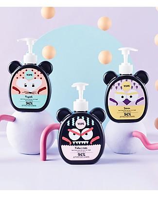 Yope Sapone Mani Naturale per Bambini, 400 ml - Cocco e Menta Kit Toilette Neonato